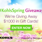 Kohl's $50 Gift Card Giveaway – 20 Winners – EXPIRED