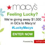 Macy's $50 Gift Card Giveaway – 20 Winners – EXPIRED