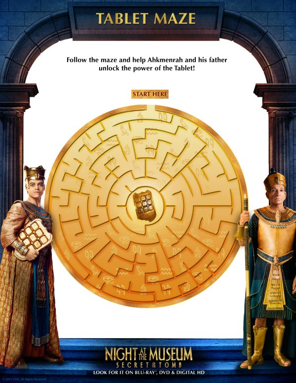 Night at the Museum Tablet Maze