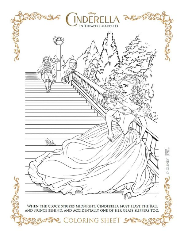 glass slipper coloring pages - photo#35