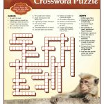 Disney Monkey Kingdom Printable Crossword Puzzle