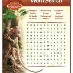Free Printable Disney Monkey Kingdom Word Search