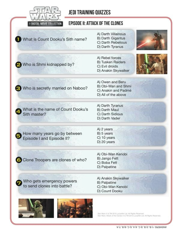 Gratifying image for star wars trivia questions and answers printable