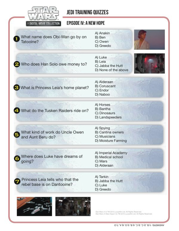 Lively image in star wars trivia questions and answers printable