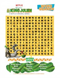 Free Printable All Hail King Julien Word Search