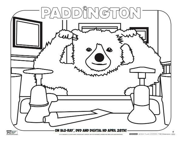 paddington free printable coloring sheet
