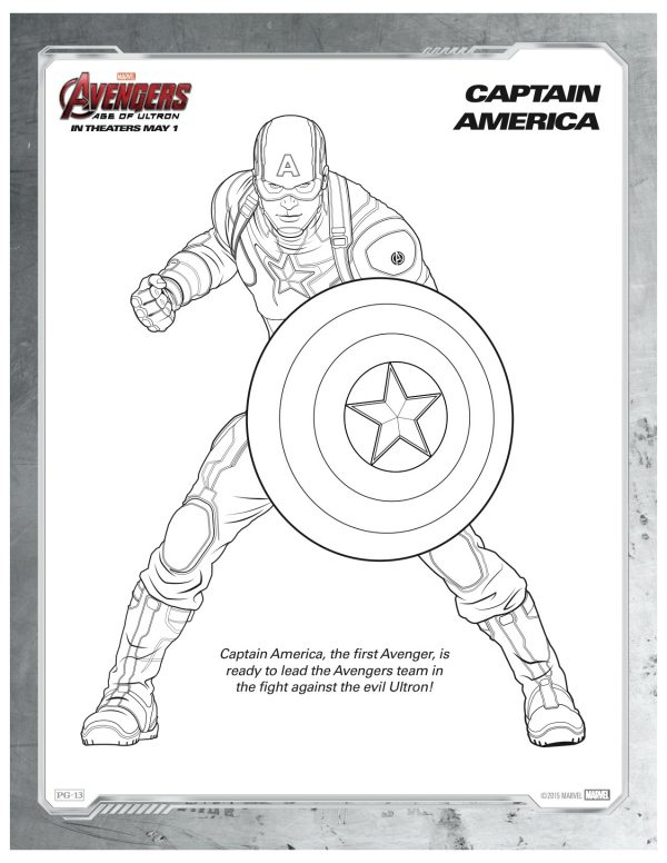 Marvel Avengers Captain America Coloring Page  Mama Likes This