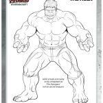 Hulk Coloring Page Free Marvel Printable