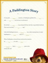 Free Paddington Printable Mad Libs