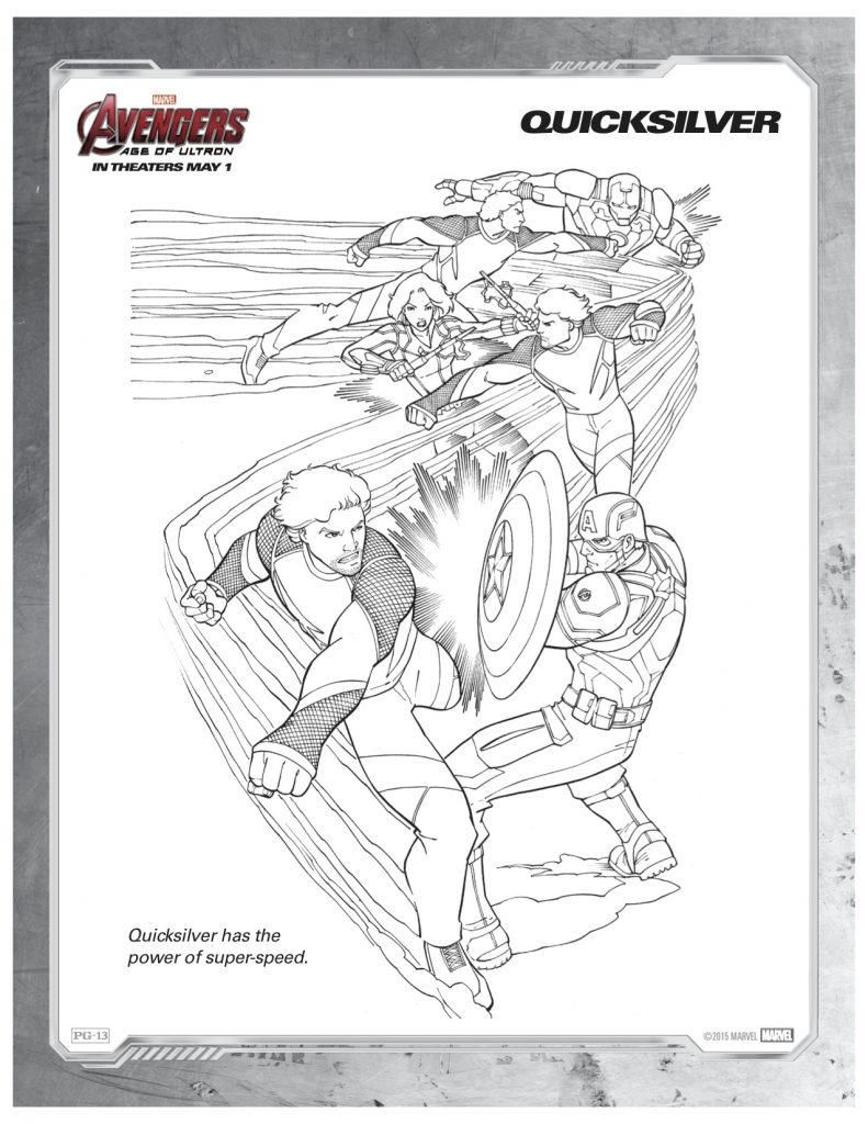 Marvels Avengers Quicksilver Printable