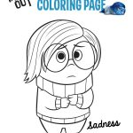 ... Disney Pixar Inside Out Sadness Coloring Sheet
