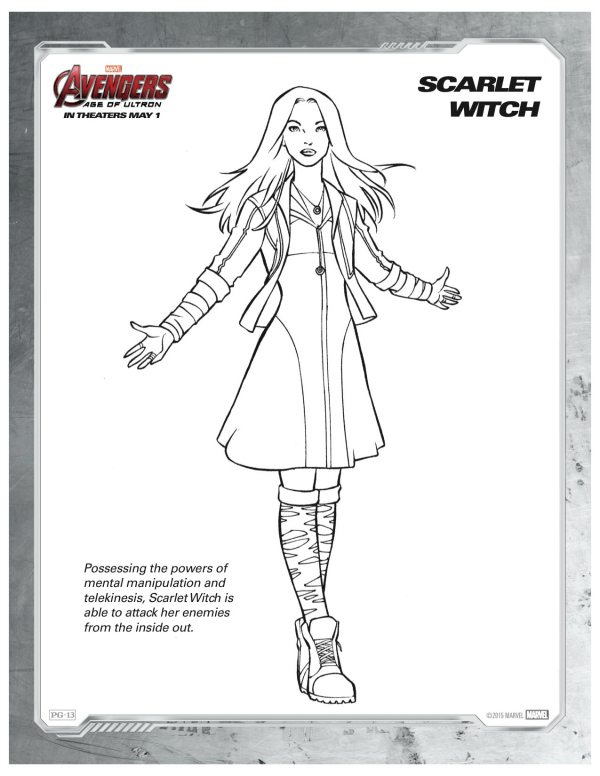 enchantress marvel coloring pages - photo#18