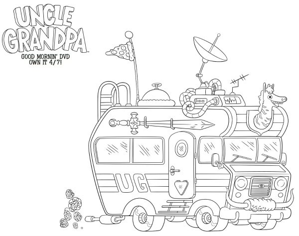 cartoon network uncle grandpa coloring pages | Uncle Grandpa Free Printable Coloring Sheet | Mama Likes This