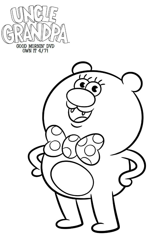 cartoon network uncle grandpa coloring pages | Free Cartoon Network Uncle Grandpa Coloring Page | Mama ...
