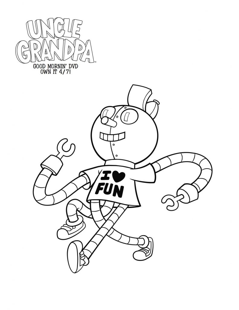 cartoon network uncle grandpa coloring pages | Free Printable Tiny Miracle Uncle Grandpa Coloring Page ...
