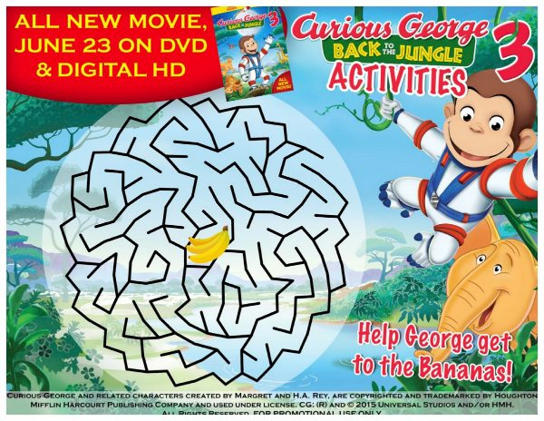 Free Curious George Maze