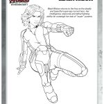 Marvel Avengers Black Widow Printable Coloring Page