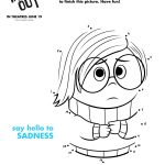 Free Printable Disney Inside Out Sadness Connect the Dots