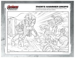 Marvel Avengers Coloring Page - Thor's Hammer Drops
