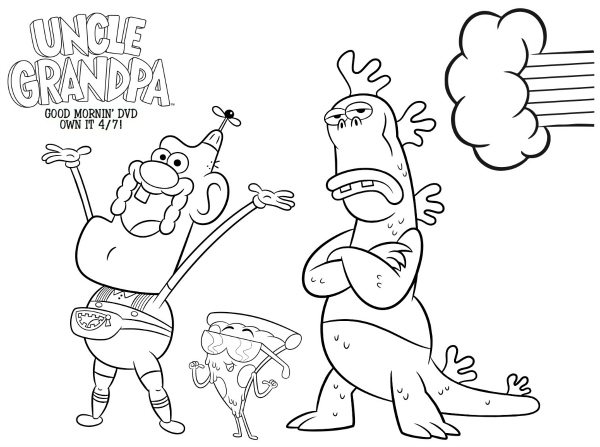 cartoon network uncle grandpa coloring pages | Cartoon Network Uncle Grandpa Free Coloring Page | Mama ...