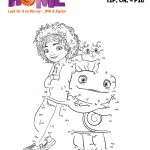 DreamWorks Home Free Printable Connect the Dots Coloring Page