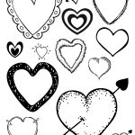 Free Printable Loving Hearts Coloring Page