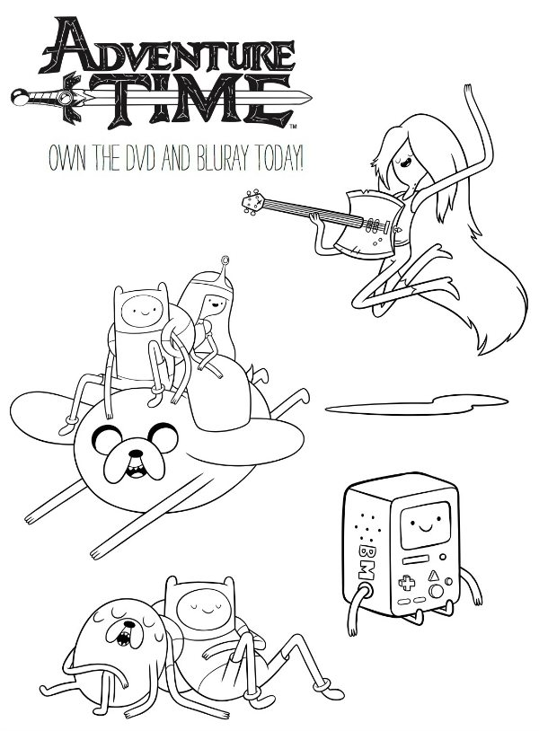 Adventure Time Printable Coloring Page