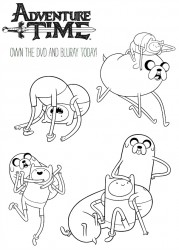 Free Adventure Time Coloring Page