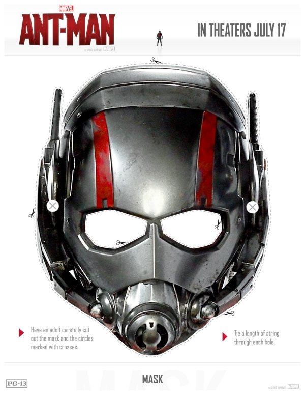 Free Printable Marvel Ant-Man Mask