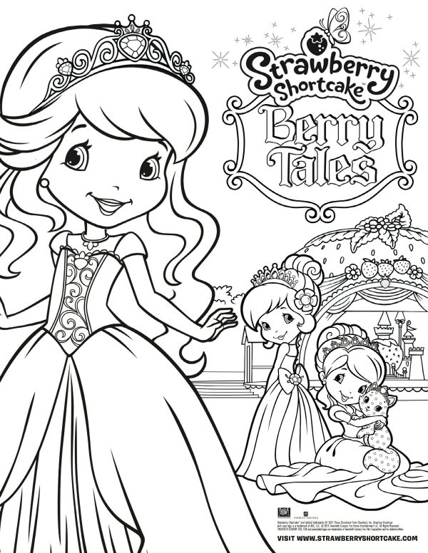 Free Printable Strawberry Shortcake Coloring Page