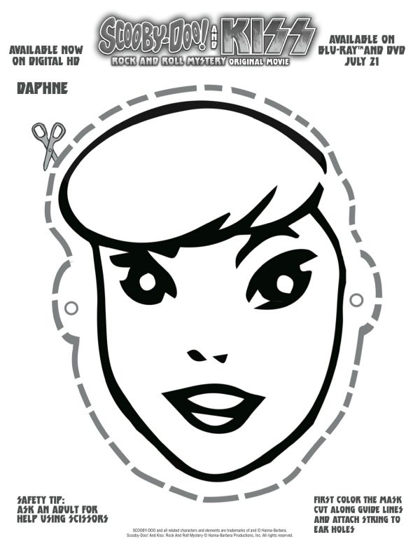 free printable scooby doo daphne mask mama likes this