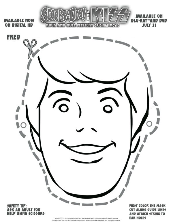 Free Printable Scooby Doo Fred Mask