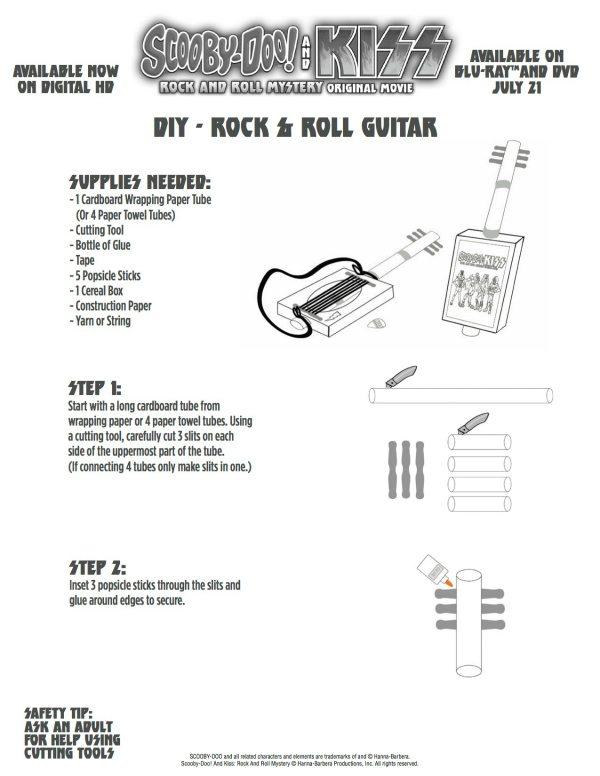 Scooby Doo & KISS DIY Guitar Craft