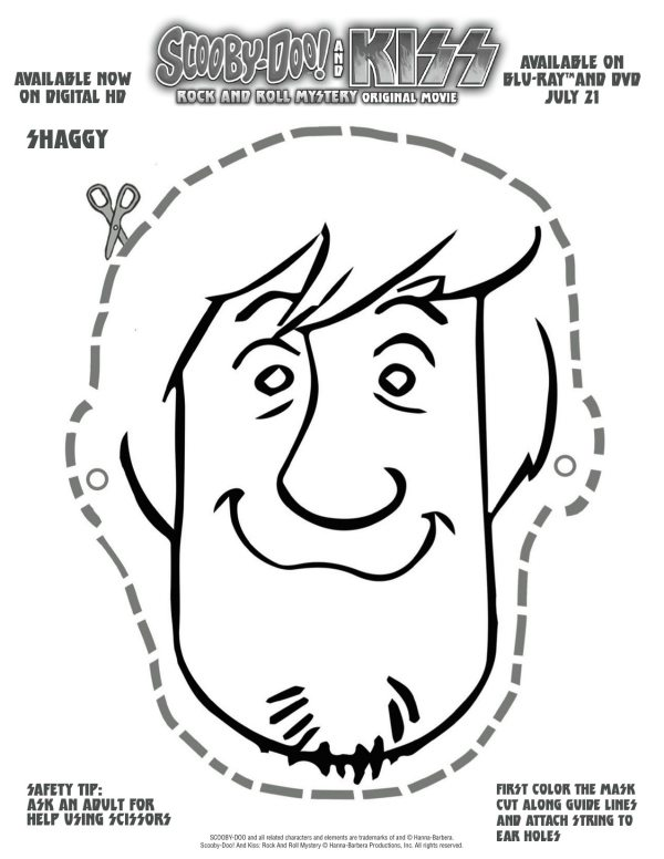 Free Scooby Doo Printable Shaggy Mask | Mama Likes This