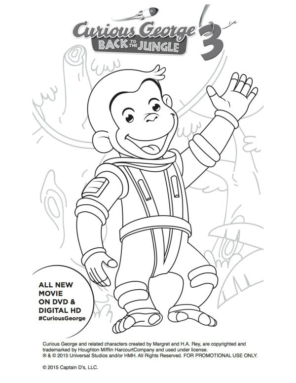curious george christmas coloring pages - photo#17