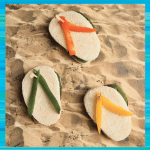 Disney Teen Beach Party Flip Flop Caprese Sandwiches