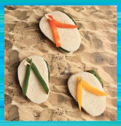 Disney Teen Beach Party Flip Flop Sandwiches