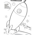 Free Printable Curious George Rocket Ship Coloring Page