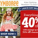 Everything 40% Off at Gymboree!
