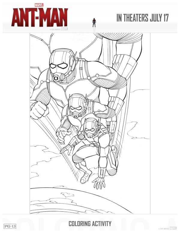 Free Printable Ant-Man Coloring Page