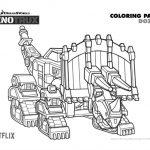 Free Printable Dinotrux Dozer Coloring Page