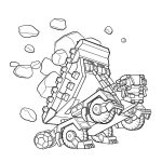 Dinotrux Ton Ton Coloring Page Printable pdf