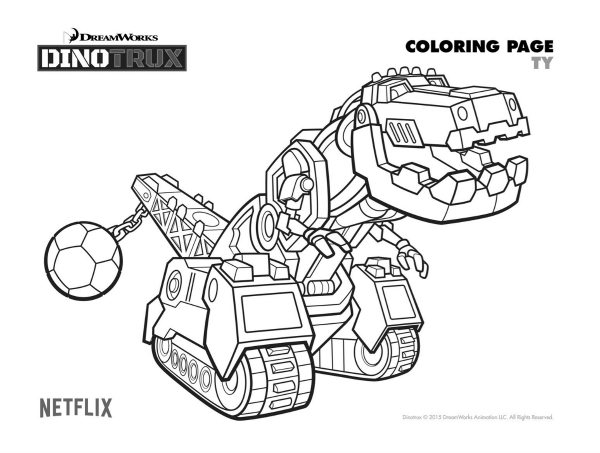 Free Dinotrux Ty Coloring Page Mama Likes This