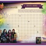 Free Printable Disney Descendants Dots Duel Game