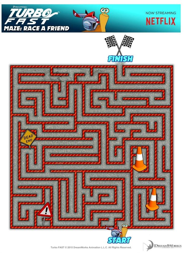Free Printable Turbo Fast Maze