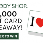 The Body Shop $25 Gift Card Giveaway – 40 Winners – EXPIRED