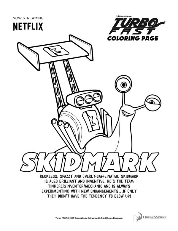turbo fast skidmark coloring page mama likes this