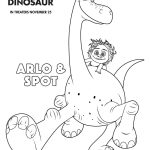 Free Printable Disney The Good Dinosaur Arlo & Spot Coloring Page