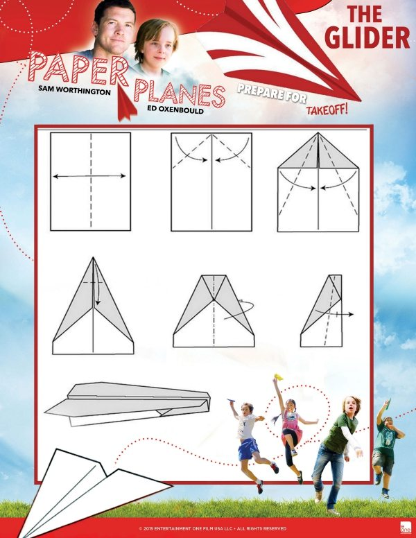 Free Printable Glider Paper Airplane Tutorial
