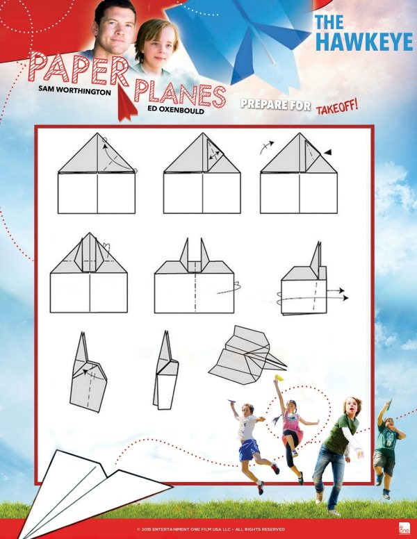 Free Printable Hawkeye Paper Airplane Tutorial